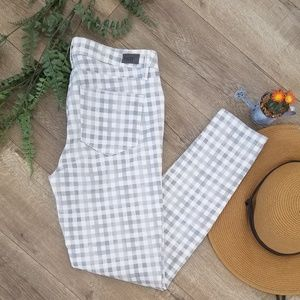NWOT! PAIGE Verdugo Ankle Gingham